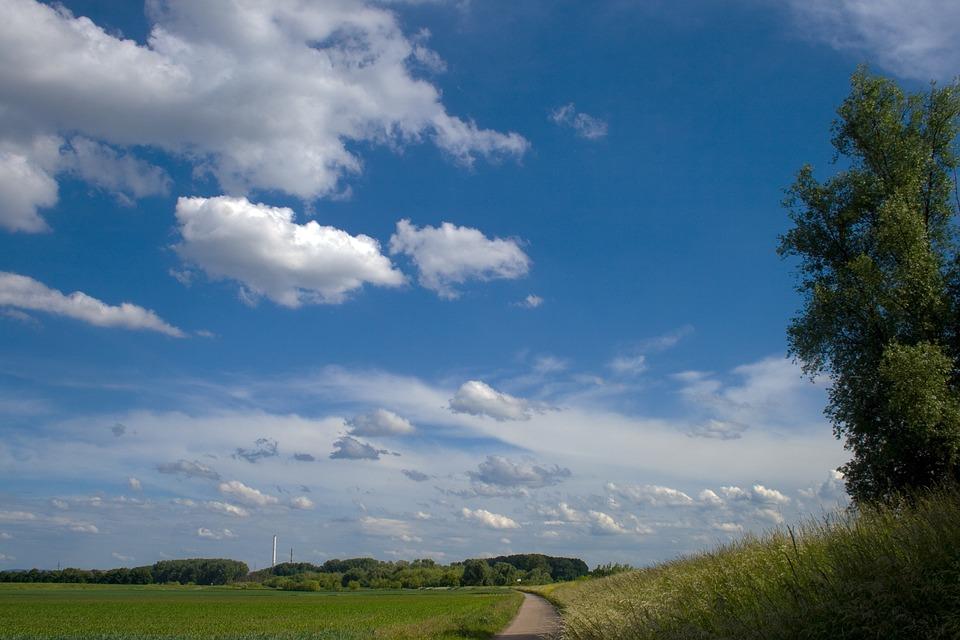Clouds, Meadow, Field, Summer Sky