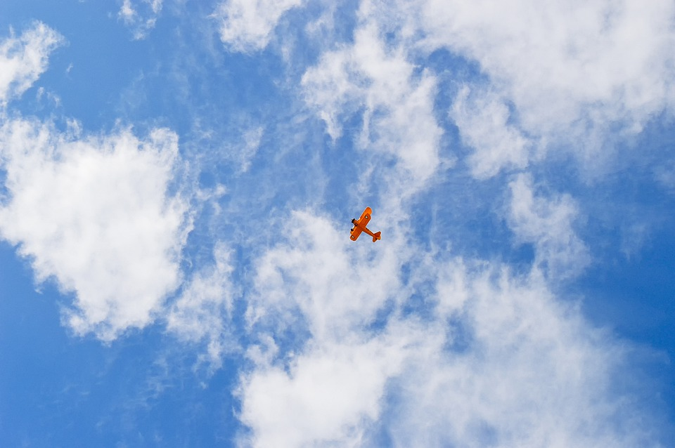 Airplane, Aircraft, Fly, Clouds, Biplane, Plane