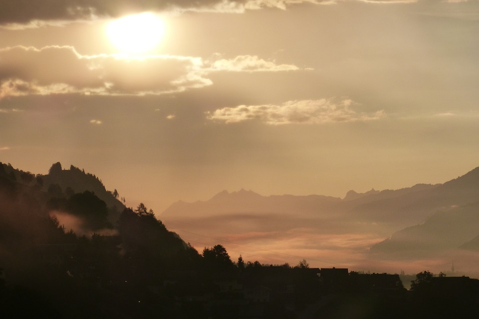 Morgenstimmung, Clouds, Back Light, Fog, Autumn, Haze