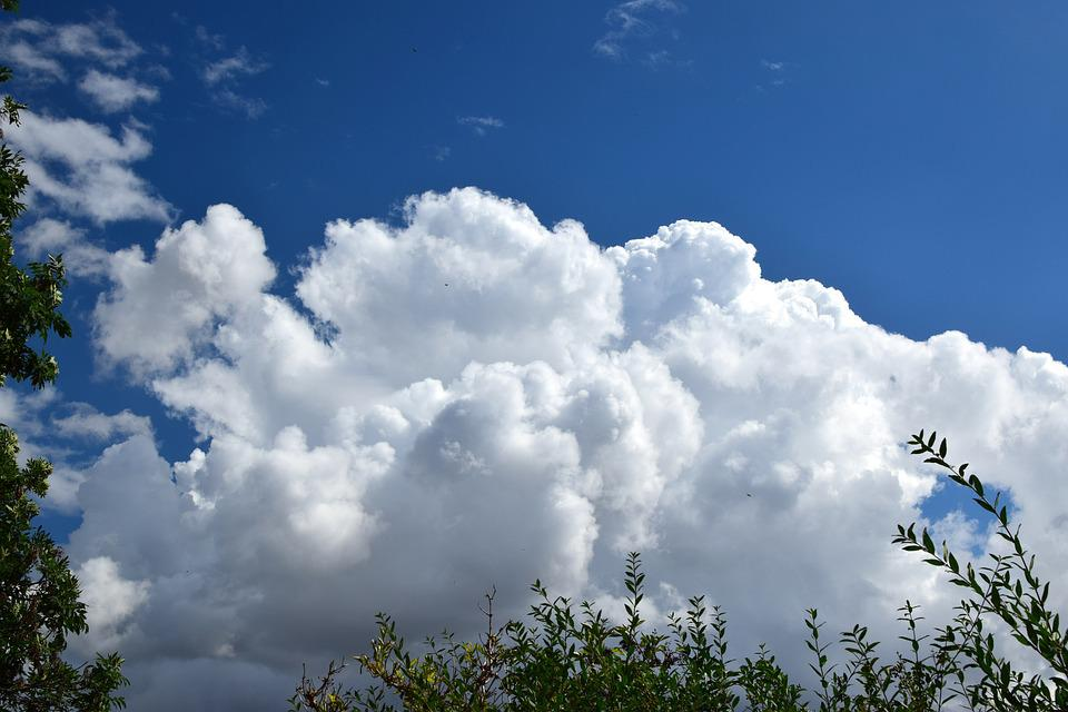 Clouds, Sky, Blue, Clouds Form, Trees