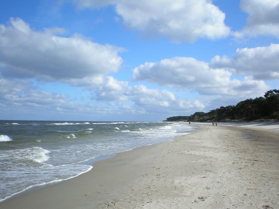 Baltic Sea, Beach, Clouds, Island Of Usedom, Germany