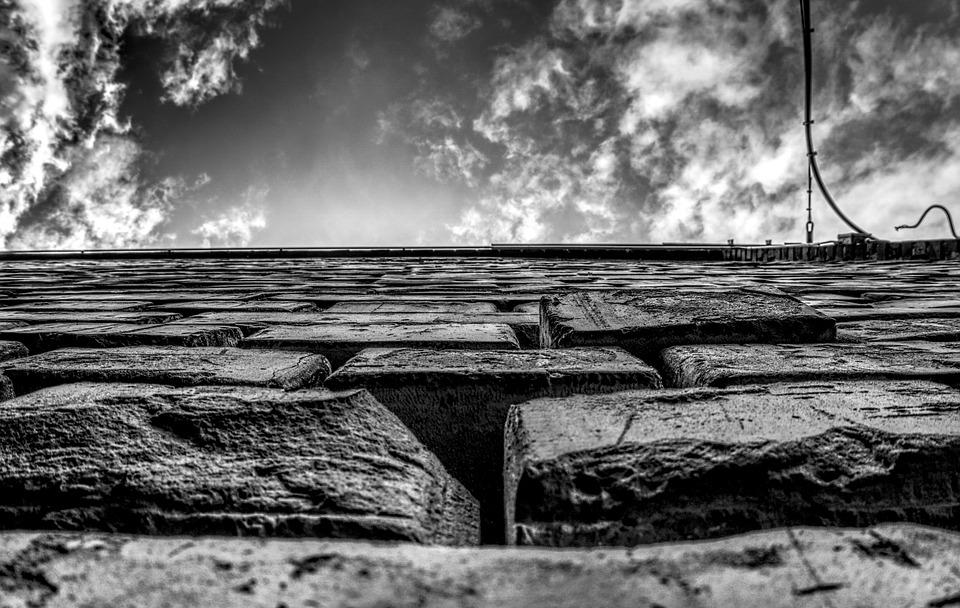 Wall, Masonry, Sky, Clouds, Hdr, High Dynamic Range