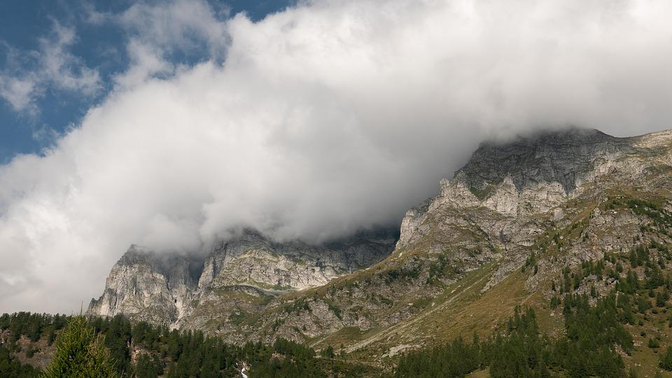 Italy, Nature, Clouds, Mountains, High, Dolomites