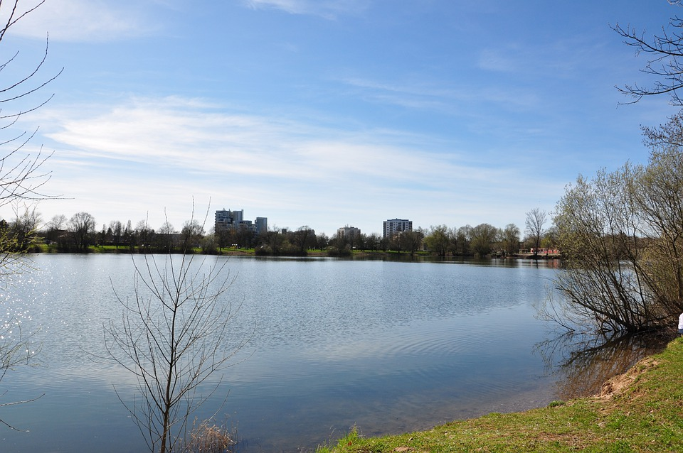 Lake, Water, Clouds