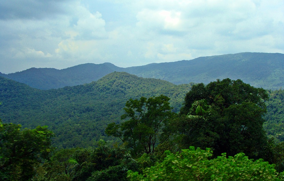 Mountains, Sky, Landscape, Clouds, Western Ghats, India