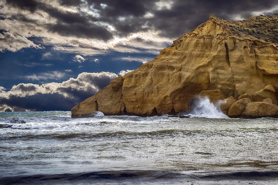 Sea, Clouds, Sky, Landscape, Costa, Storm, Waves