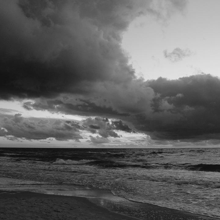 Sea, Clouds, The Horizon, Water, Landscape, Nature