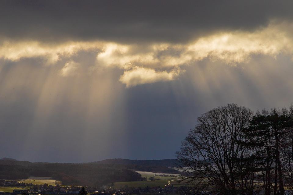 Clouds, Sunbeam, Lighting, Landscape, Mood, Mystical