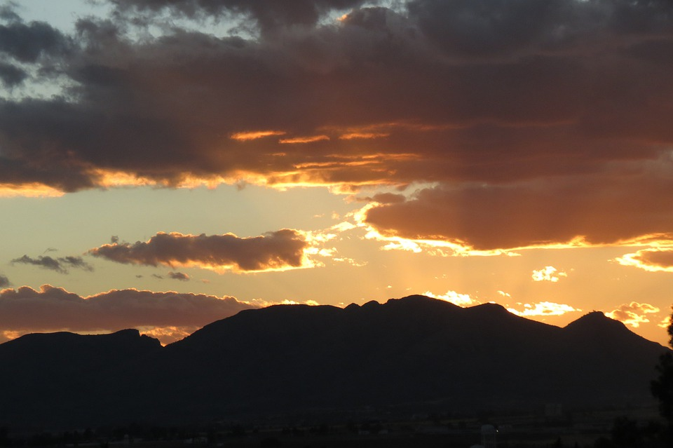 Hill, Clouds, Sunset, Mexico, Aguascalientes