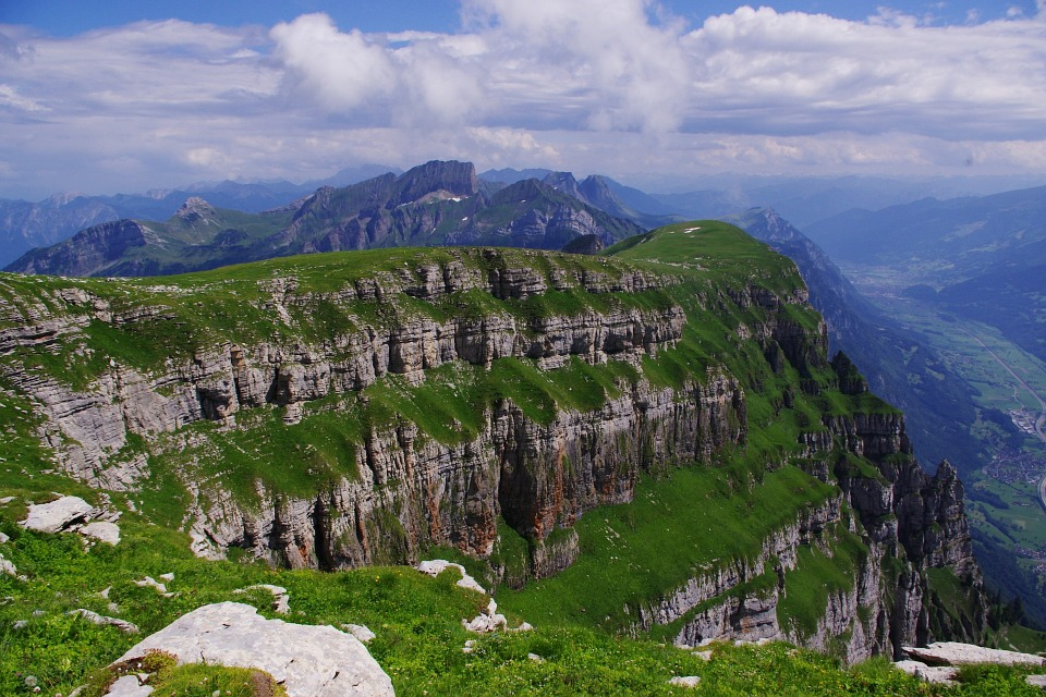Switzerland, Swiss, Mountains, Scenery, Summer, Clouds