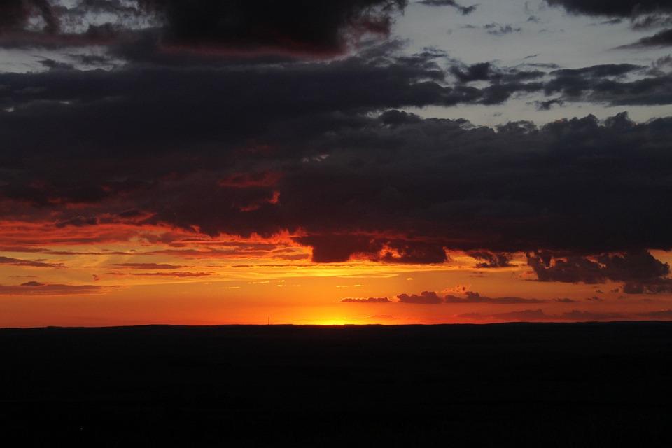 Sky, Horizon, Clouds, Nature, Landscape, Sun, Light