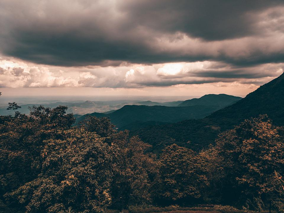 Landscape, Clouds, Mountains, Nature, Tree