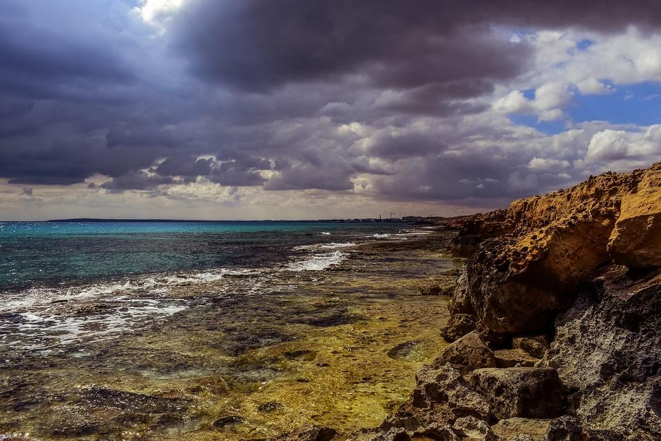 Sea, Nature, Sky, Clouds, Overcast, Landscape, Rock