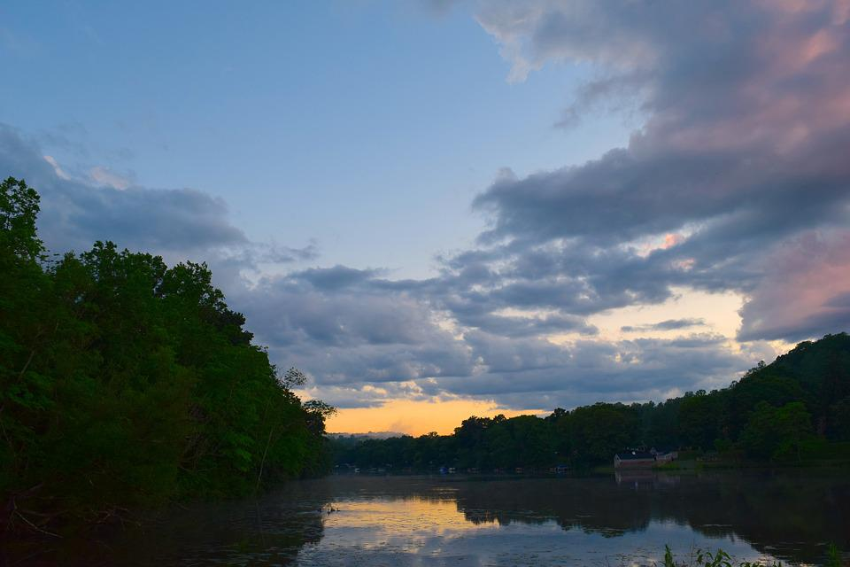 Clouds, Sky, Lake, Water, Sunset, Nature, Landscape