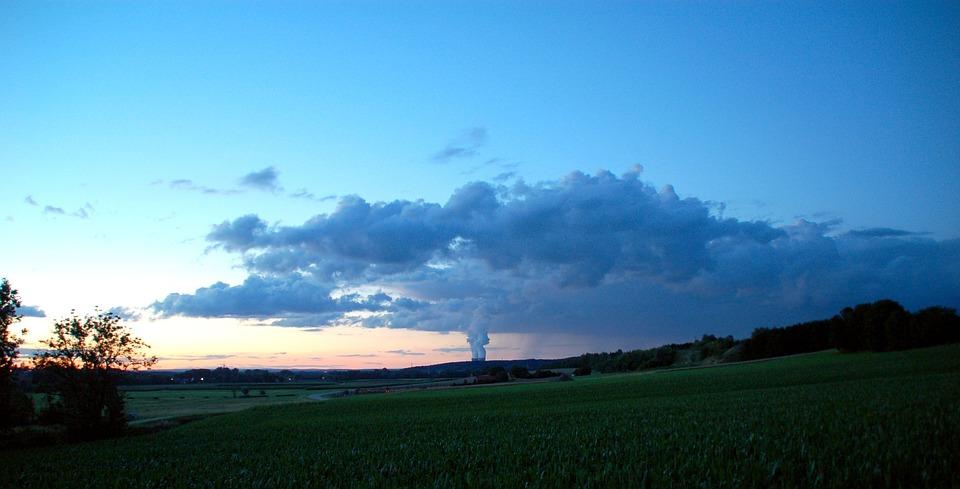 Power Plant, Nuclear Power Plant, Nuclear Power, Clouds