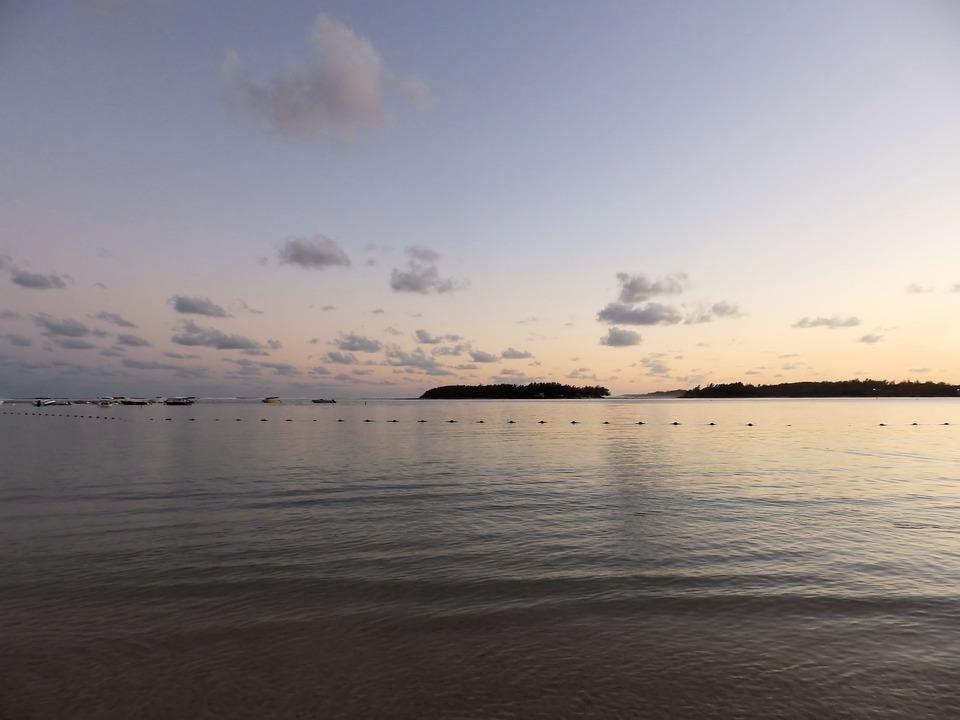 Ocean, Sea, Water, Twilight, Clouds, Sunset, Cove