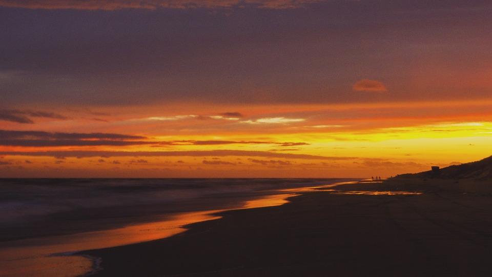 Sunset, Beach, Ocean, Sea, Water, Sunrise, Dusk, Clouds