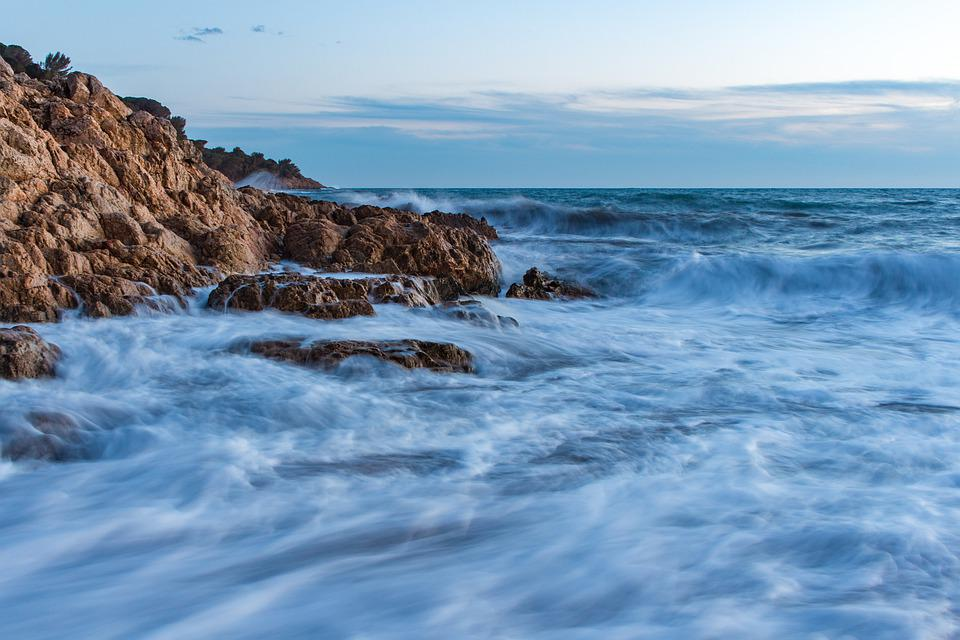 Sea, Storm, Waves, Clouds, Ocean, Landscape, Water