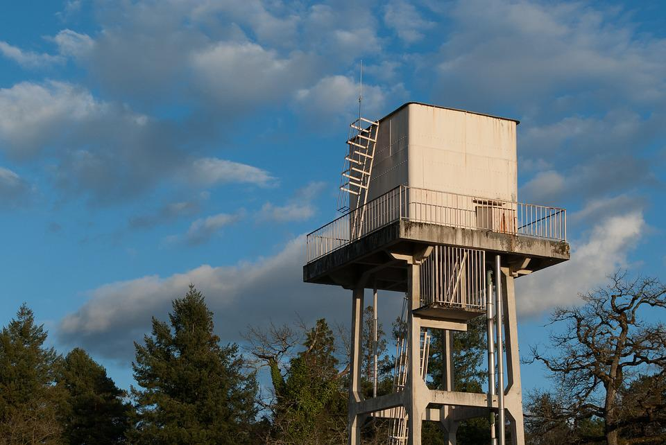 Sky, Architecture, Outdoor, Water Tower, Nature, Clouds