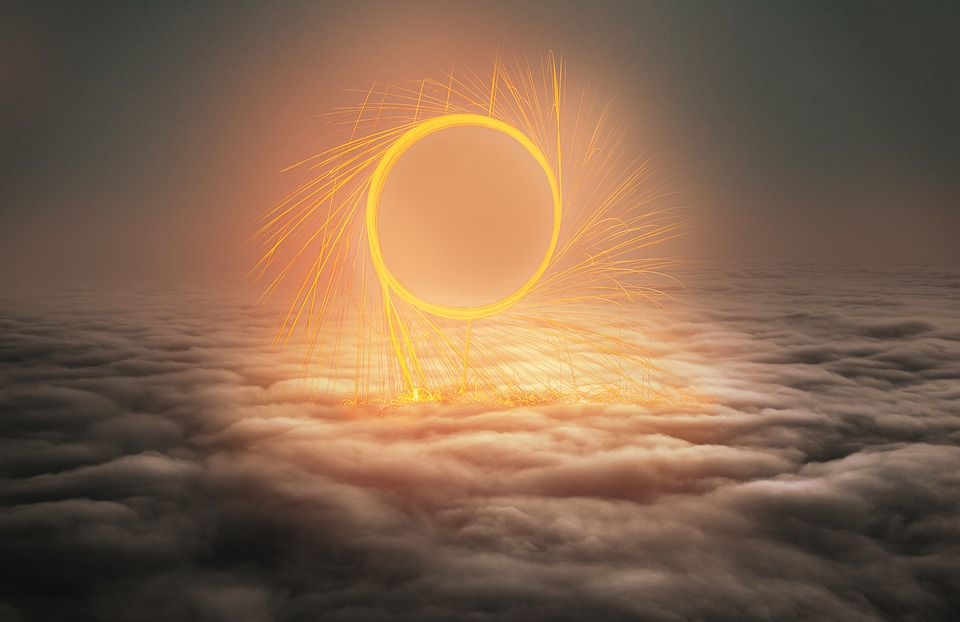 Portal, Clouds, Circle, Fantasy, Steel Wool Photography