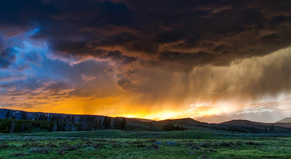 Fields, Clouds, Mountains, Mountainous, Meadow, Prairie