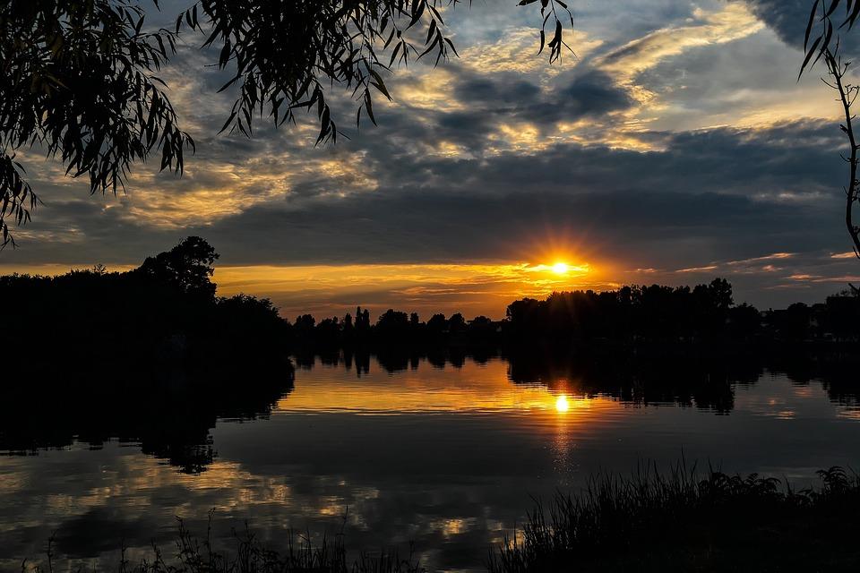 Nature, Sun, Clouds, Reflection, Lake, Beauty Of Nature