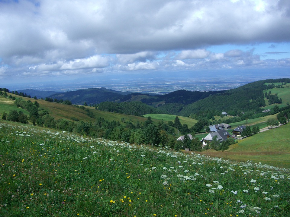 Zähringer Hof, Münstertal, Rhine Valley, Clouds