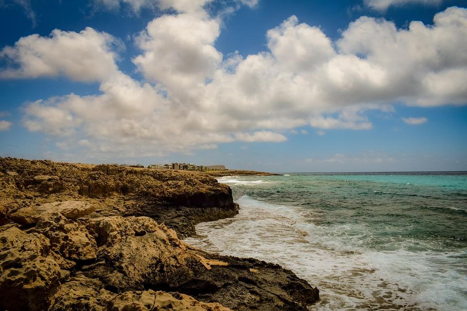 Rocky Coast, Sea, Sky, Clouds, Nature, Rock, Cliff