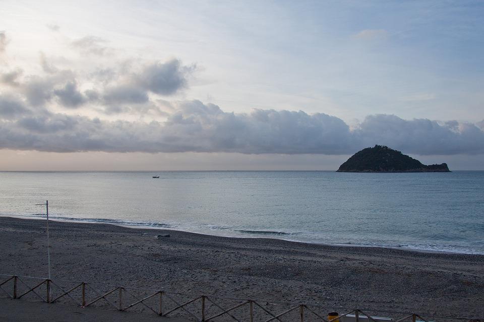 Sunrise, Sea, Beach, Sand, Island, Clouds, Sky, Blue