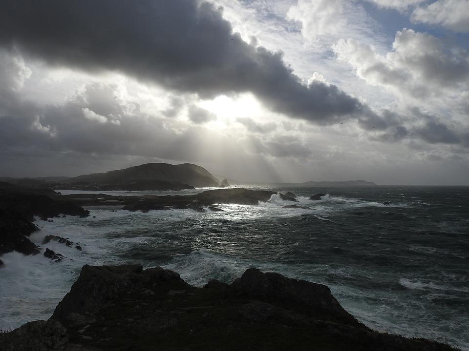 Valdoviño, Sea, Sky, Landscape, Sunset, Clouds, Nature