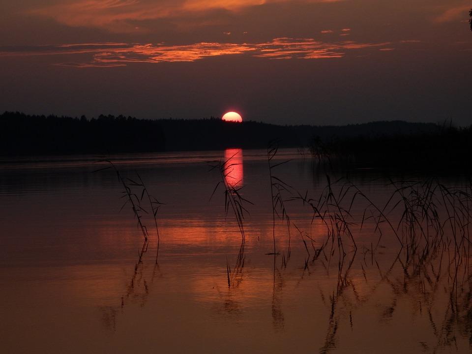 Sunset, Finland, Suomi, Sea, Sky, Clouds, Tourism