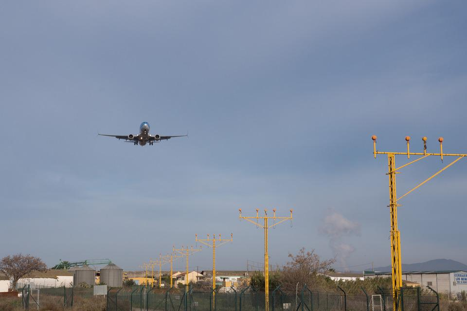Landing, Land, Aircraft, Sky, Clouds, Blue, Fly, Wing