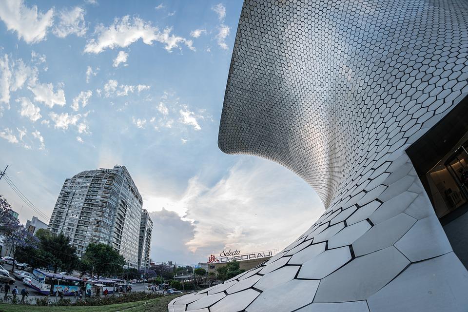 Museum, Soumaya, Sky, Clouds, Buildings, Mexico, Cdmx