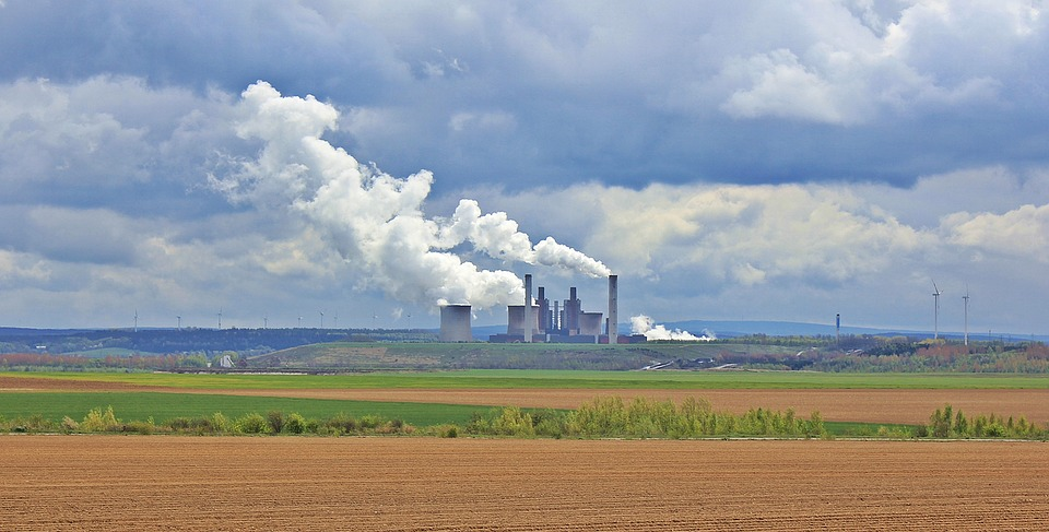 Power Plant, Clouds, Sky, Industry, Chimney, Factory