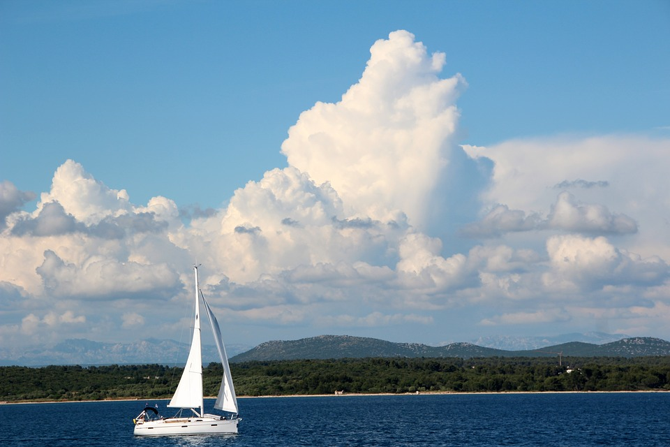 Clouds, Sky, Cloud, Sailing Boat, Sailing Vessel