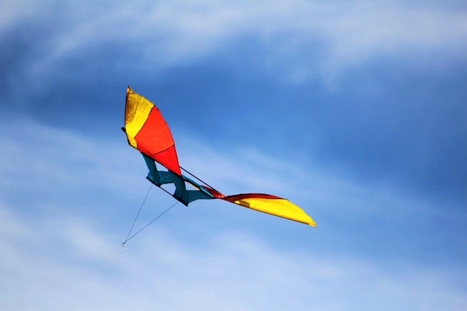 Dragons, Fly, Dragon Rising, Sky, Clouds, Kites Rise