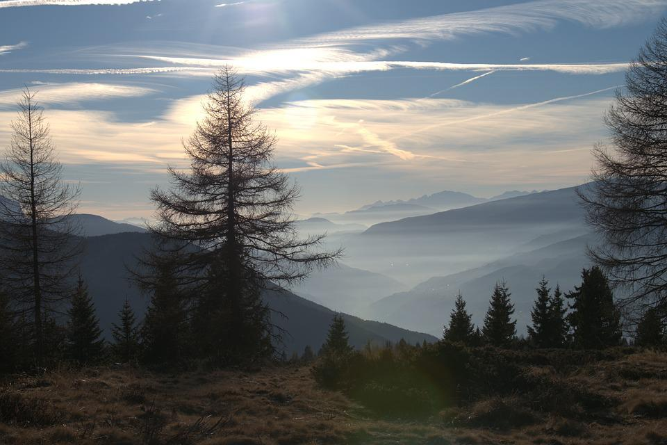 Mountains, Clouds, Fog, Landscape, South Tyrol, Sky