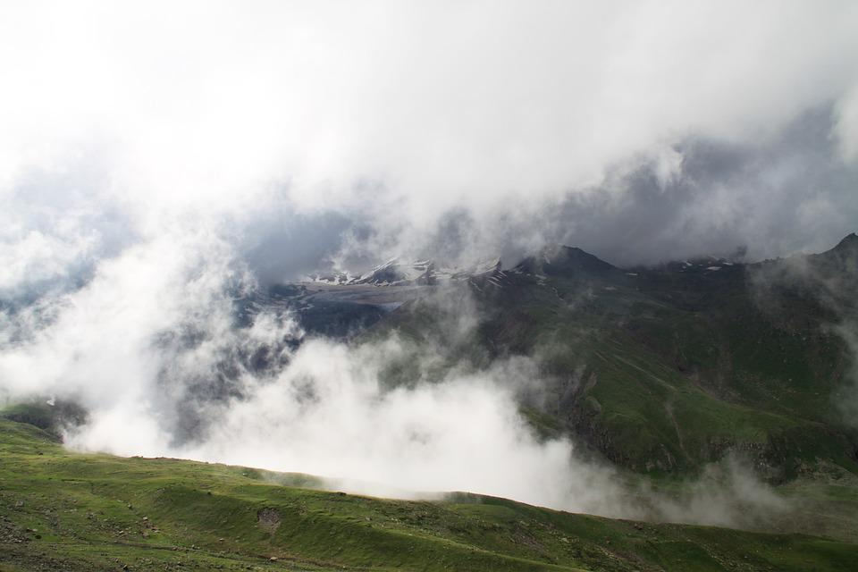 Mountains, View, Landscape, Clouds, Sky, High