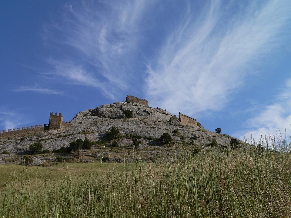 Hill, Nature, Crimea, Castle, Sky, Blue Sky, Clouds