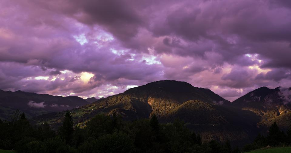 Landscape, Mountains, Sky, Clouds, Nature, Weather Mood
