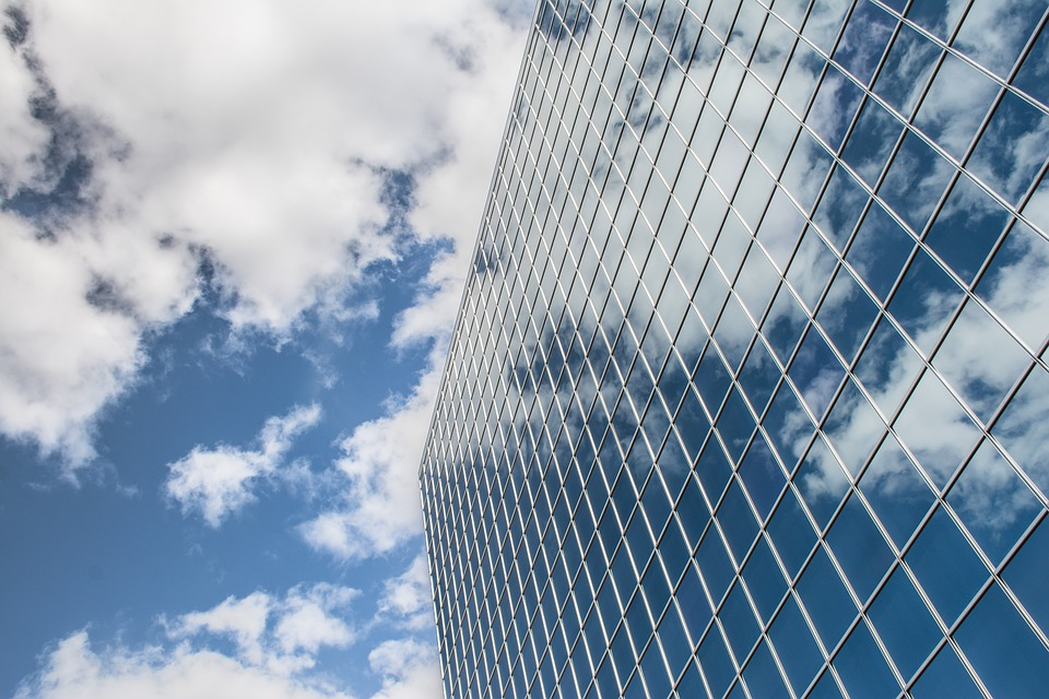 Building, Reflection, Clouds, Sky, Skyscraper