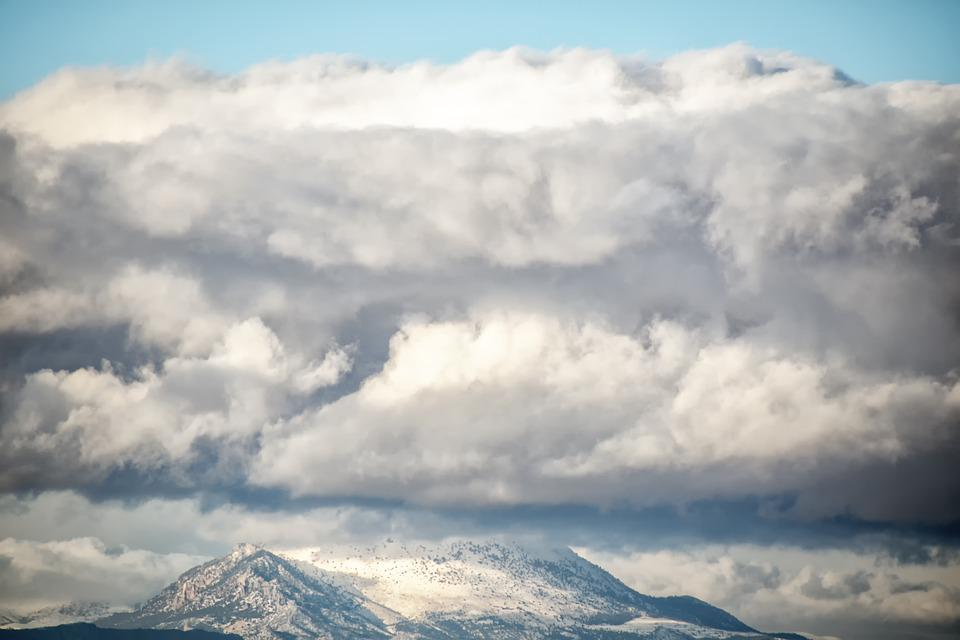 Landscape, Mountains, Snow, Sky, Clouds