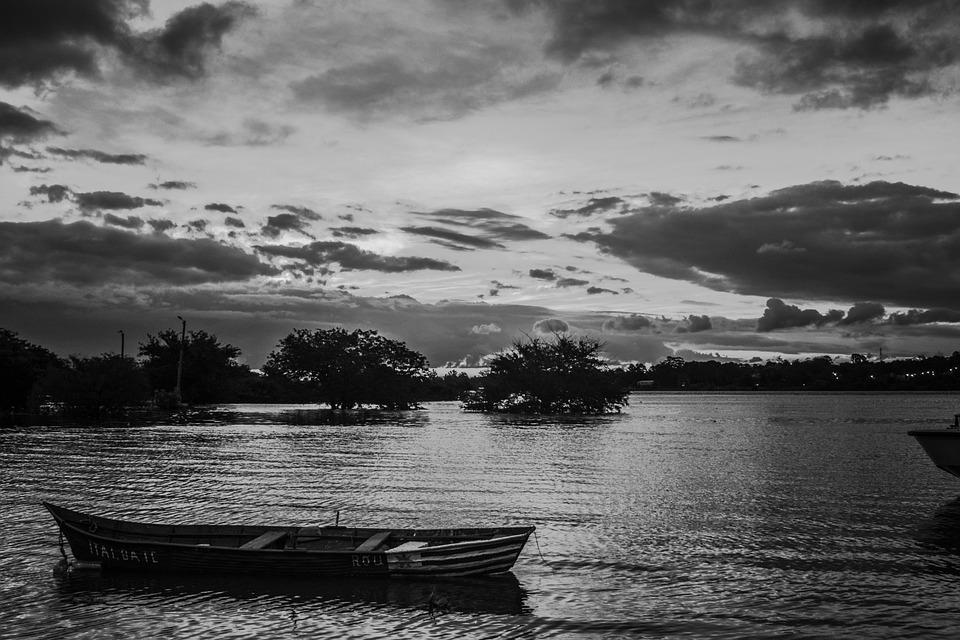 Landscape, Sky, Boat, Nature, Clouds, Sea, Sun