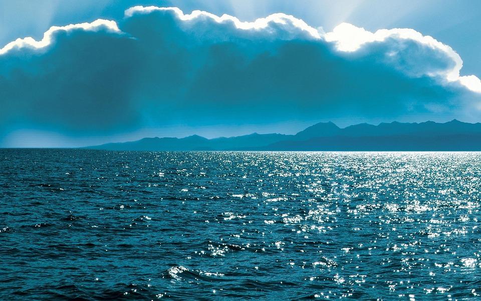 The Sea, Clouds, Sun