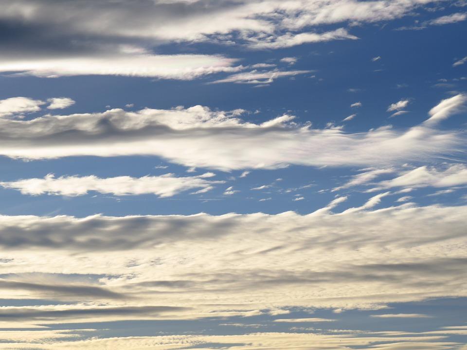 Sky, Clouds, Blue, Cloud, Contrail, Clear, Sunny