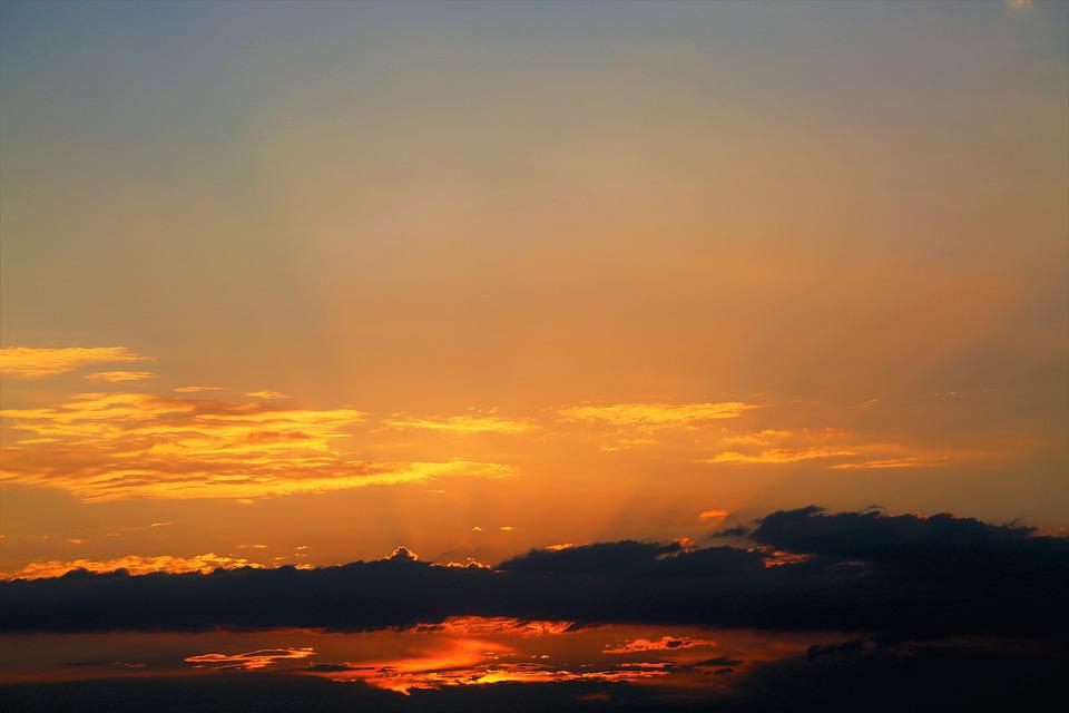 In The Evening, Dawn, Sunset, Nature, Clouds, Sky
