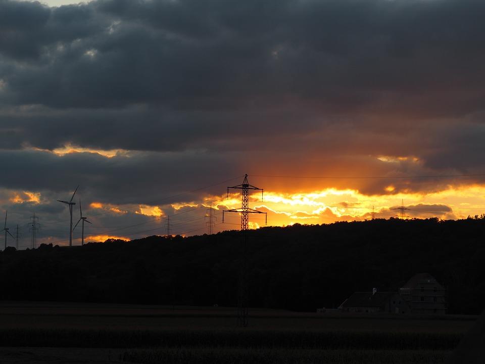 Sky, Abendstimmung, Night, Sunset, Clouds, Evening