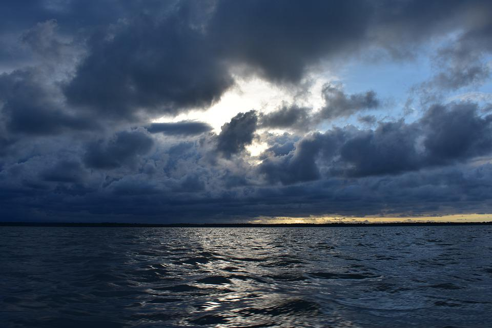 Sunset, Sea, Clouds