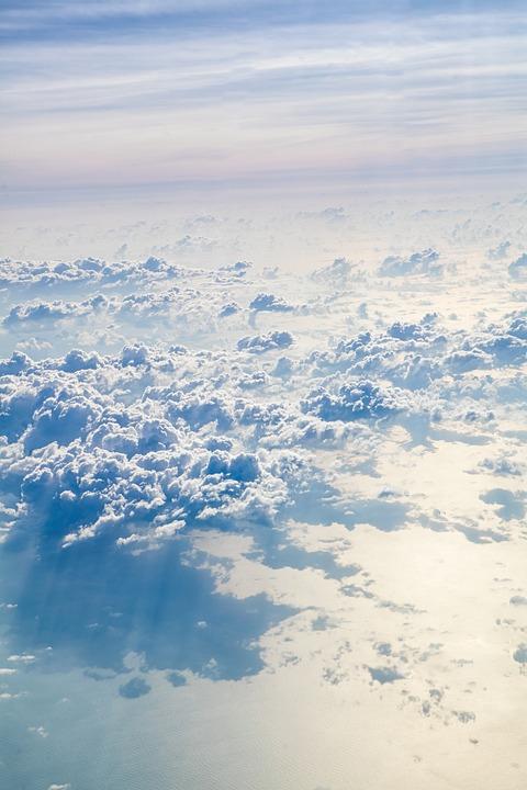 Clouds, Sunset, Sky, Landscape, Nature, Sunlight, Blue