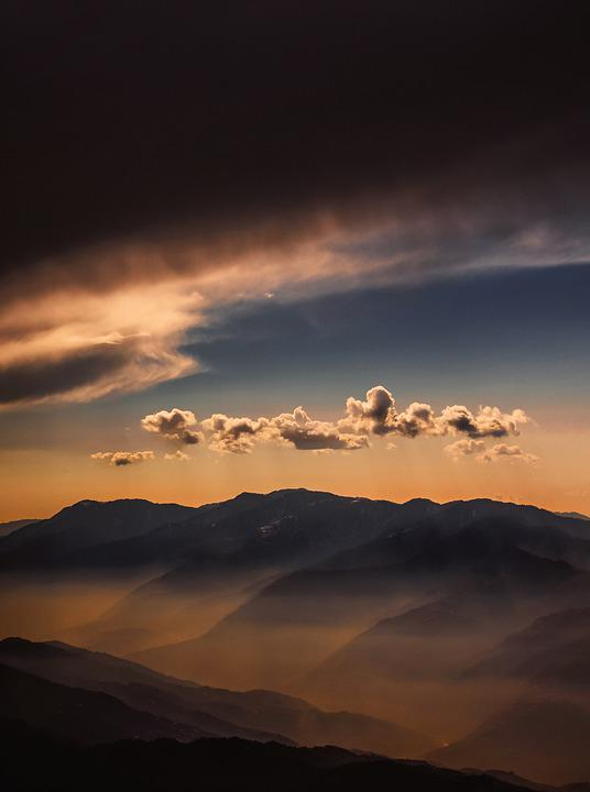 Sunset, Weather, Sky, Clouds, Landscape, View